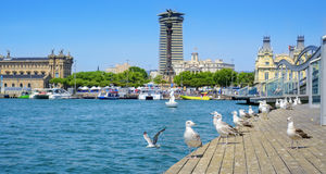 Port Vell of Barcelona, Spain Royalty Free Stock Image