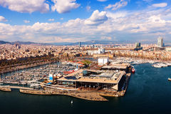Port Vell at Barcelona Stock Photos