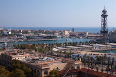 Port Vell, Barcelona royalty free stock photos