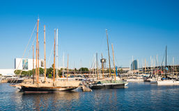 Port Vell in Barcelona Royalty Free Stock Photos