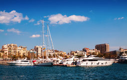 Port Vell and  Barceloneta district.  Barcelona Royalty Free Stock Photos