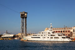Port Vell and Cable Car Terminal, Barcelona Stock Photography