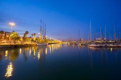 Port Vell and embankment of Barcelona Stock Photo