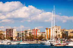 Port Vell and La Barceloneta district Royalty Free Stock Images