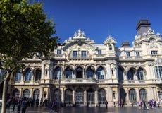 Port vell landmark catalan building in barcelona port area spain Royalty Free Stock Image