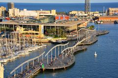 Port Vell and Maremagnum Stock Image