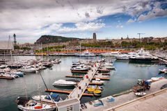 Port Vell Marina in Barcelona Royalty Free Stock Photo