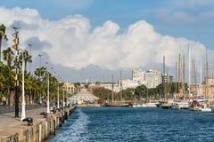 Port Vell - marina in Barcelona, Spain Royalty Free Stock Photos