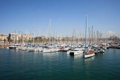 Port Vell Marina in Barcelona Stock Photo