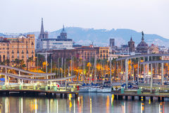 Port Vell in morning. Barcelona Royalty Free Stock Photo