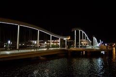 Port Vell at night, Barcelona Stock Image