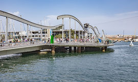 Port Vell and the Rambla del Mar royalty free stock images