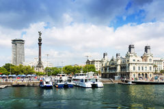 Port Vell from sea. Barcelona Stock Photography