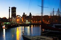 Port Vell during sunset. Barcelona Stock Photography