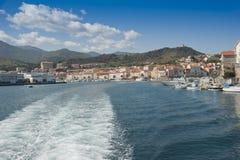 Port Vendre Boat Wake  Stock Photo