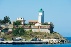Port Vendres lighthouse Stock Images