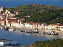Port Vendres village Stock Photo