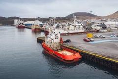 Port of Vestmannaeyjar island, Iceland Stock Image