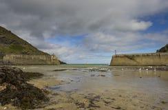 Port vide Isaac Beach dans les Cornouailles R-U Images libres de droits