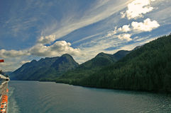 Port View. View South West heading North in the Inside Passage Stock Image