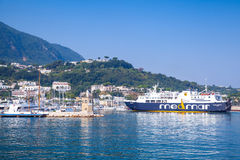 Port view of Casamicciola Terme, Ischia island Royalty Free Stock Image