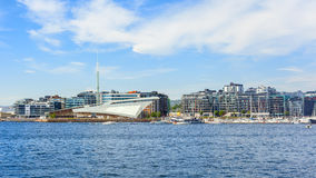 Port view in the city of oslo Royalty Free Stock Images