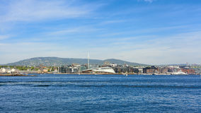 Port view in the city of oslo Stock Photography