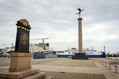 Port view in Helsingborg with monuments Stock Photos