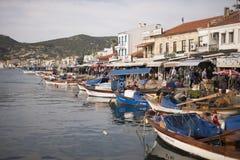 Port view from Phokaia Izmir Turkey. Royalty Free Stock Image