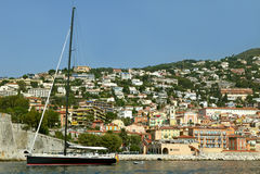 Port Villefranche, FRANCJA Zdjęcia Stock