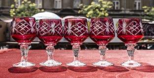Vine glasses Stock Photo