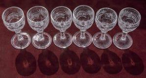 Vine glasses Royalty Free Stock Photo