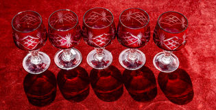 Vine glasses Royalty Free Stock Photo