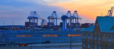The Port of Virginia Stock Photos