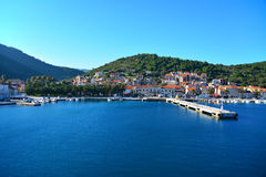 Port in Vis island. Vis town on Vis island in Croatia Stock Photography
