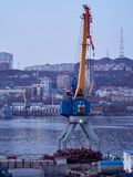 The port of Vladivostok. In the Golden horn Bay royalty free stock images