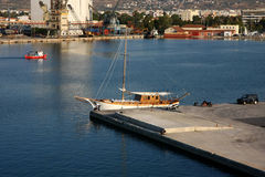 Port. Of Volos,Greece,view from the ferry Royalty Free Stock Image