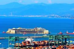 Port of voltri, genoa, italy, july 27 Stock Photos