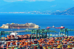 Port of voltri, genoa, italy, july 27 approach man Royalty Free Stock Photos