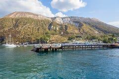 Port on Vulcano Island. View of port on Vulcano Island, Aeolian Islands, Italy Royalty Free Stock Image