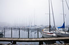 Port w Aarhus Obraz Royalty Free