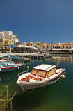 Port w Agios Nikolaos Obrazy Stock