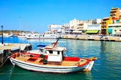 Port w Agios Nikolaos Fotografia Royalty Free