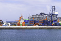 Port w Arrecife Fotografia Stock