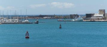 Port w Arrecife Fotografia Royalty Free
