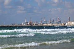 Port w Ashdod na morzu śródziemnomorskim Zdjęcie Stock