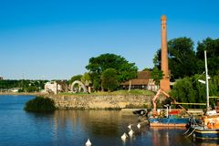 Port w Colonia de Sacramento Urugwaj zdjęcia stock