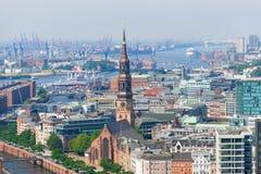 Port w Hamburg Fotografia Royalty Free