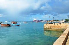 Port w Kamiennym miasteczku, Zanzibar Obrazy Stock