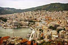 Port w Kavala, Grecja Zdjęcia Royalty Free